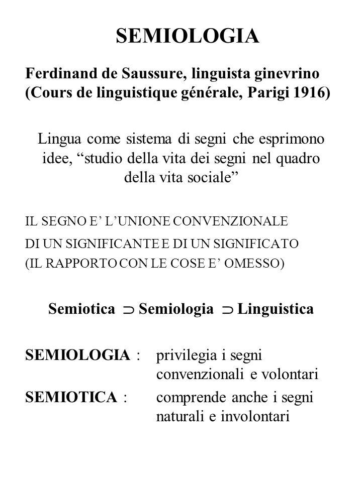 Semiotica  Semiologia  Linguistica