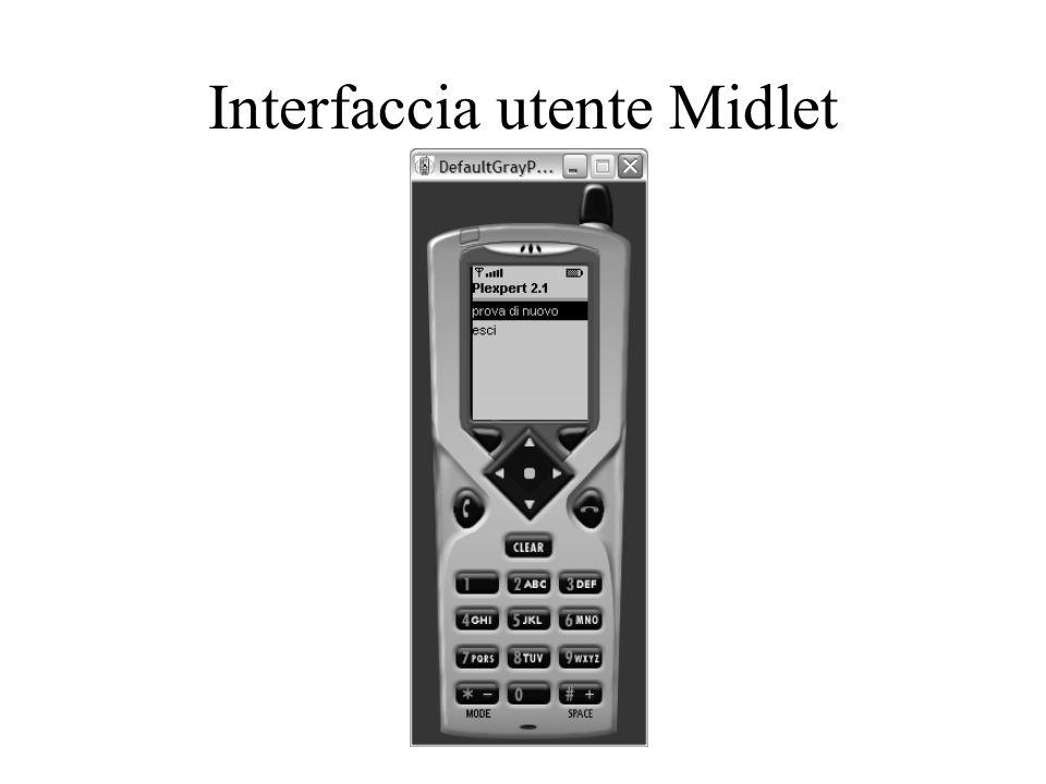 Interfaccia utente Midlet
