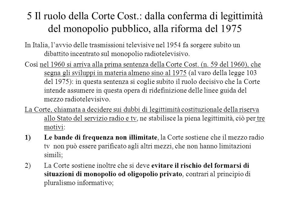 5 Il ruolo della Corte Cost