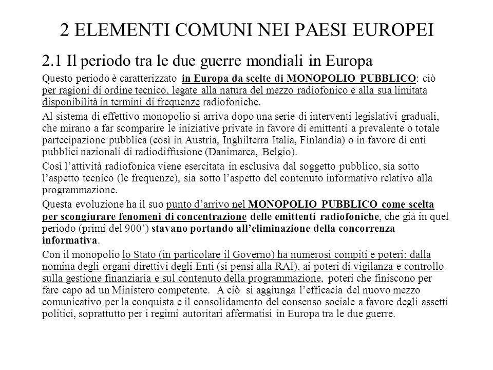 2 ELEMENTI COMUNI NEI PAESI EUROPEI
