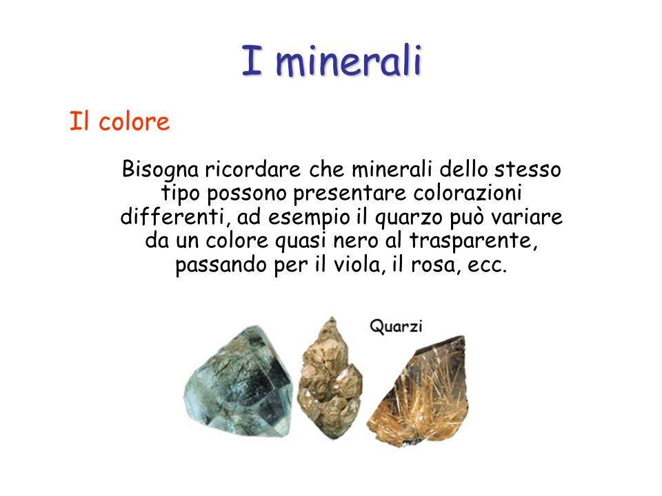 I minerali Il colore.