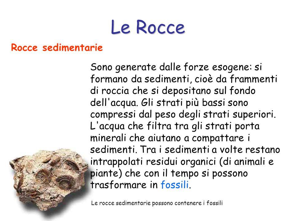 Le Rocce Rocce sedimentarie