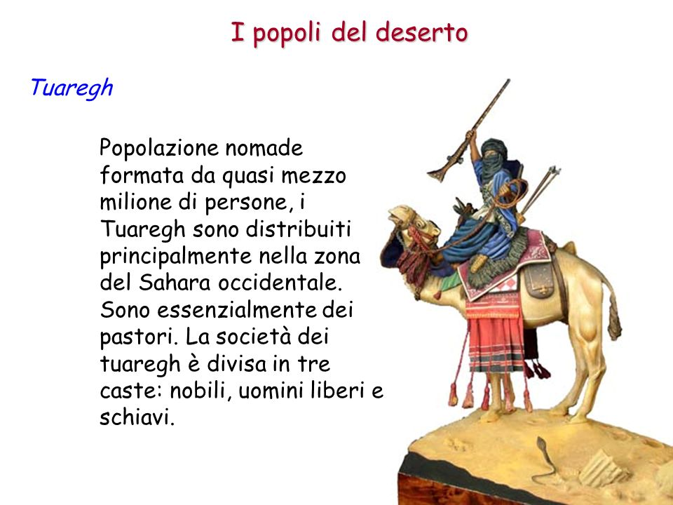 I popoli del deserto Tuaregh