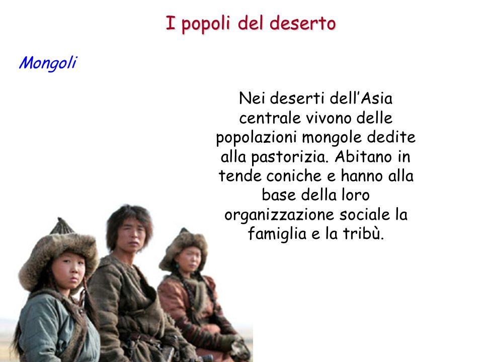 I popoli del deserto Mongoli