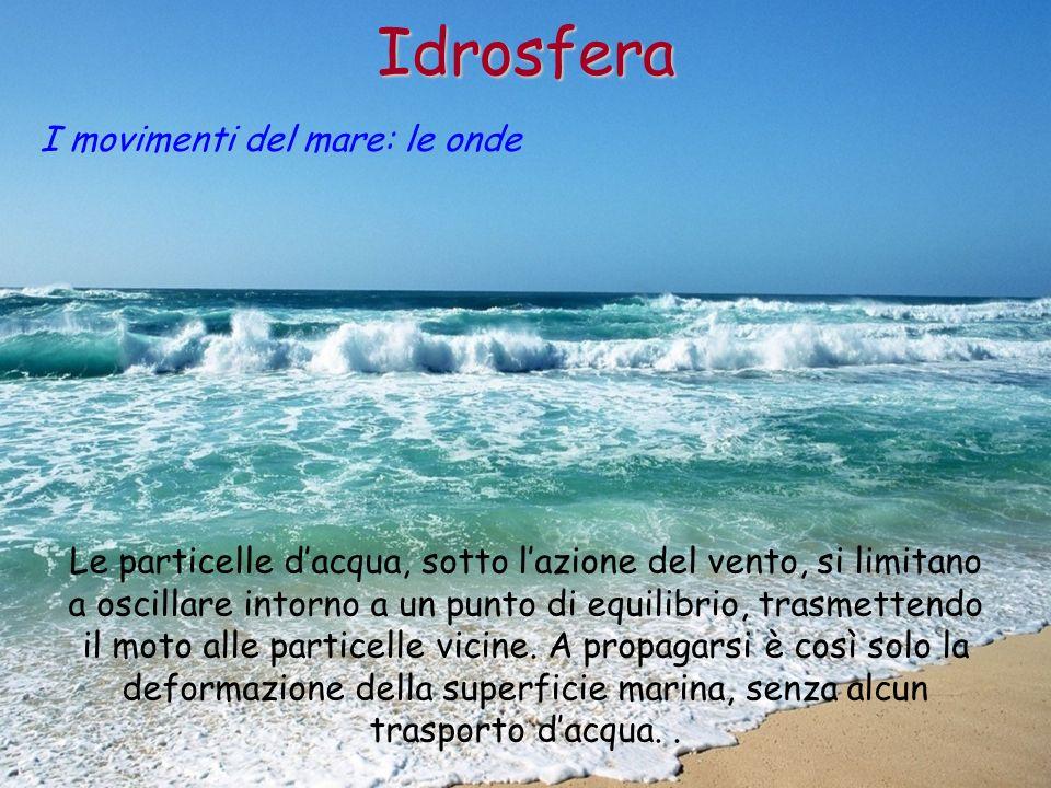 Idrosfera I movimenti del mare: le onde