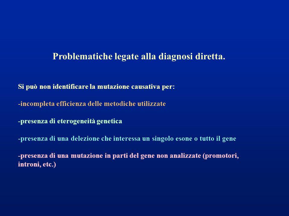 Problematiche legate alla diagnosi diretta.