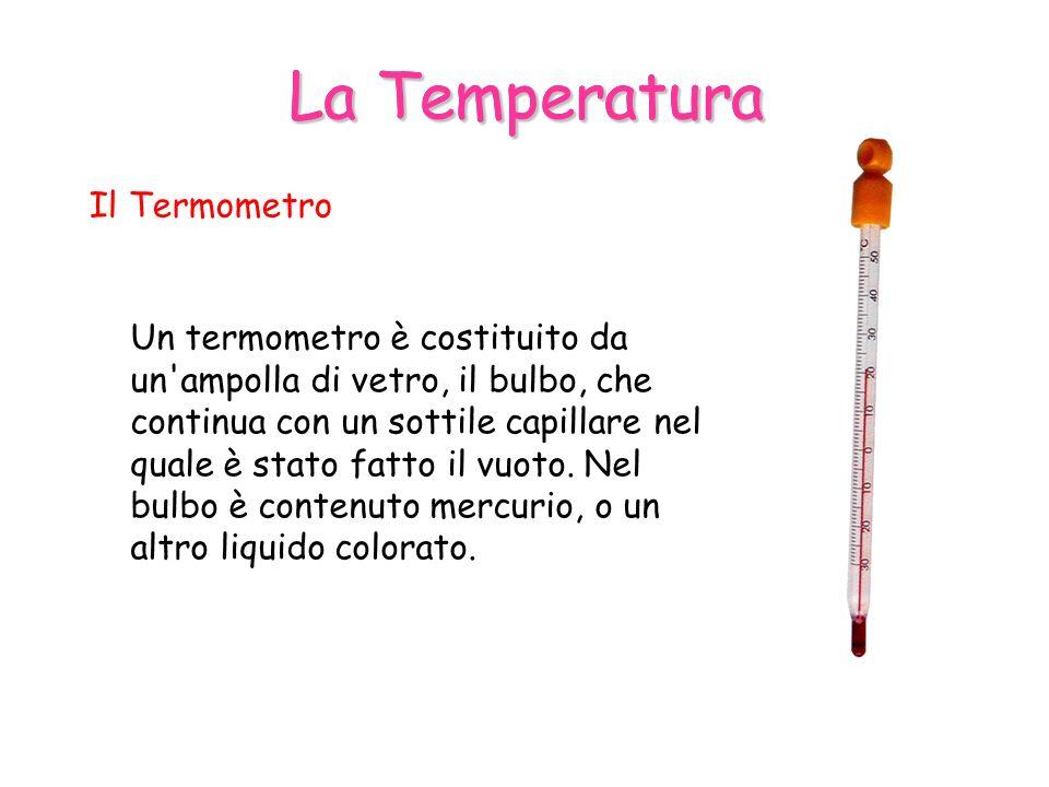 La Temperatura La Temperatura Il Termometro