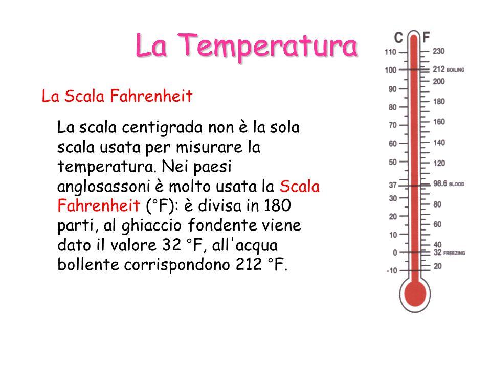 La Temperatura La Temperatura La Scala Fahrenheit