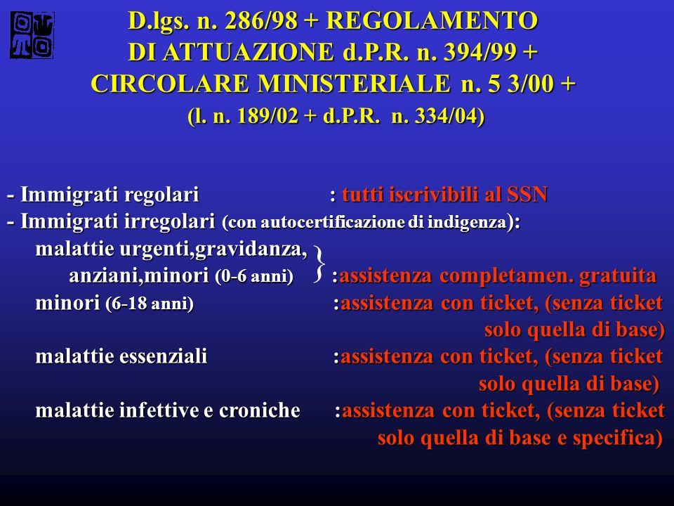 CIRCOLARE MINISTERIALE n. 5 3/00 +