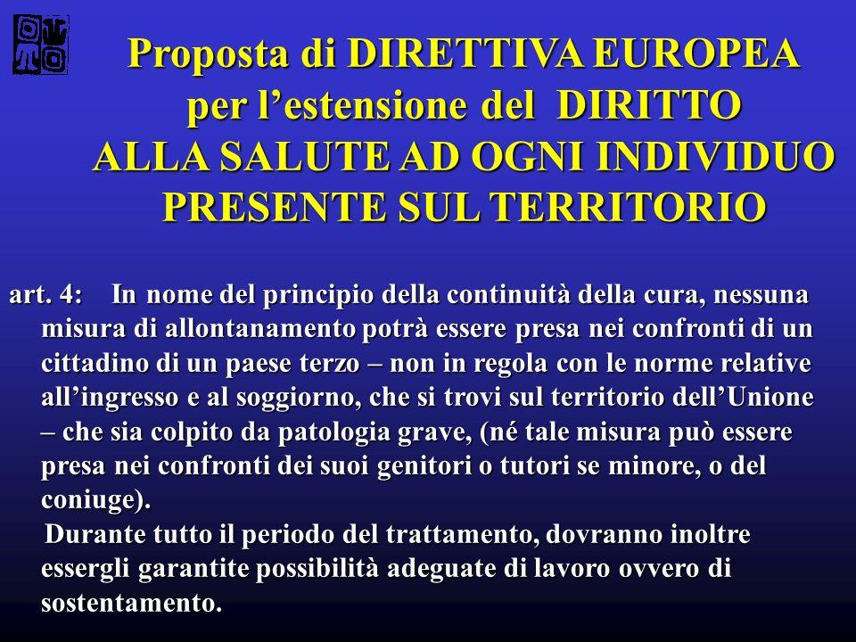 Proposta di DIRETTIVA EUROPEA per l'estensione del DIRITTO