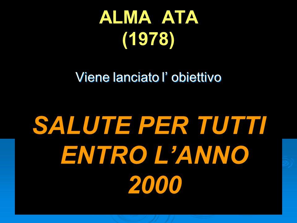 SALUTE PER TUTTI ENTRO L'ANNO 2000