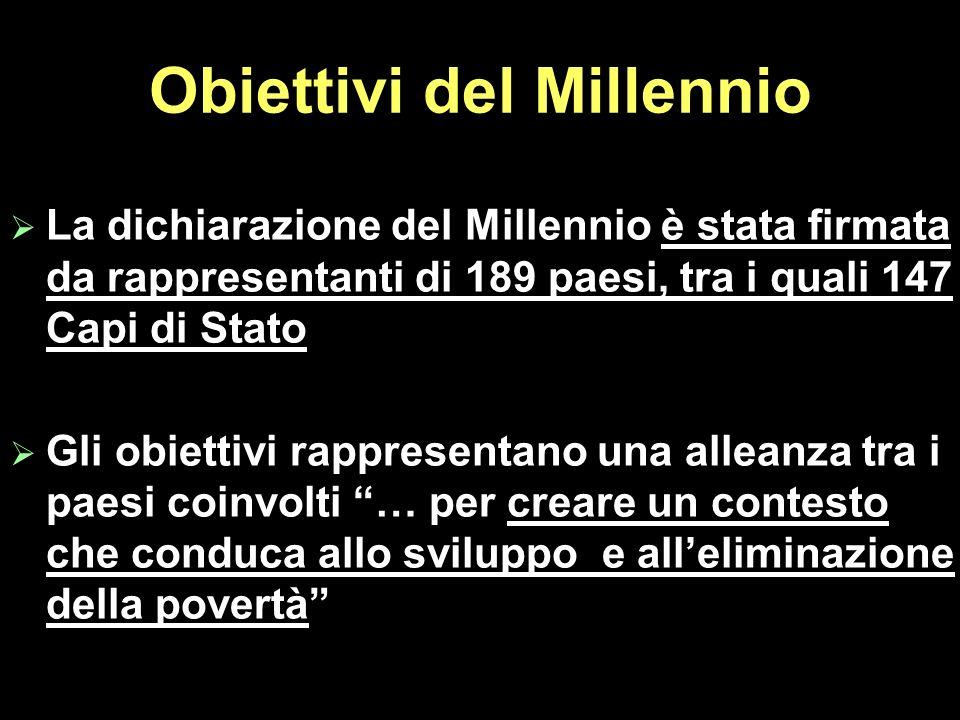 Obiettivi del Millennio