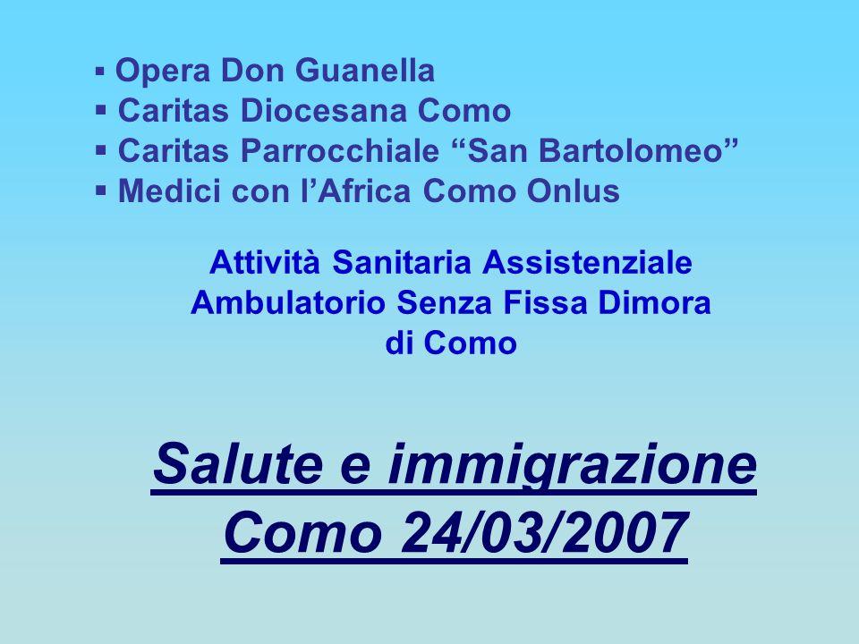 Salute e immigrazione Como 24/03/2007