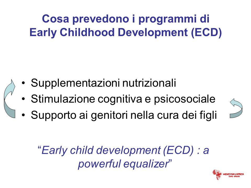 Cosa prevedono i programmi di Early Childhood Development (ECD)