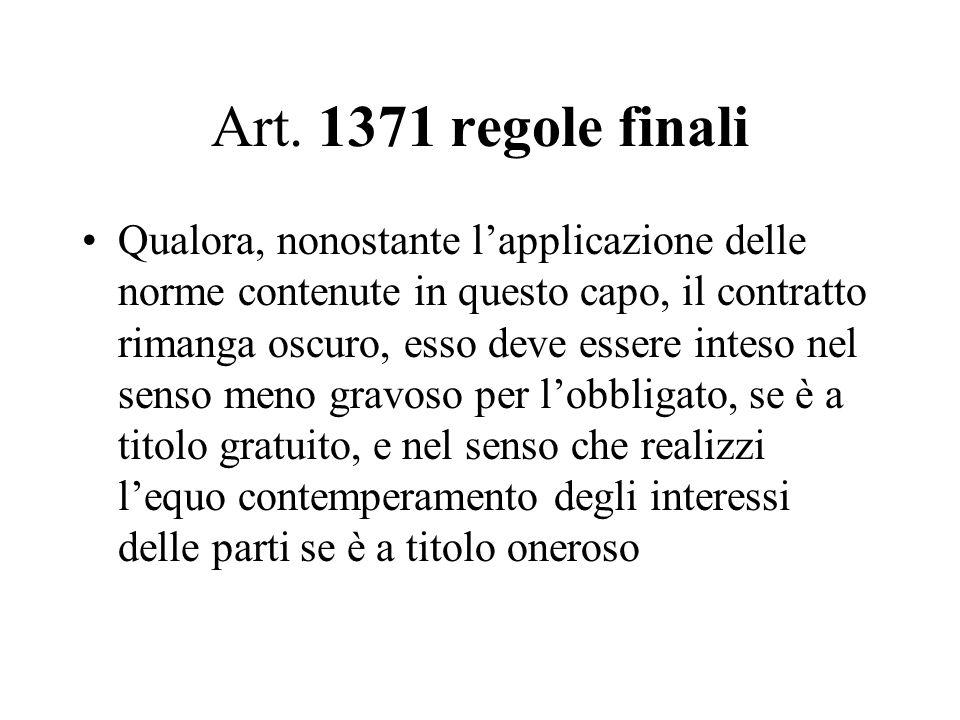 Art. 1371 regole finali