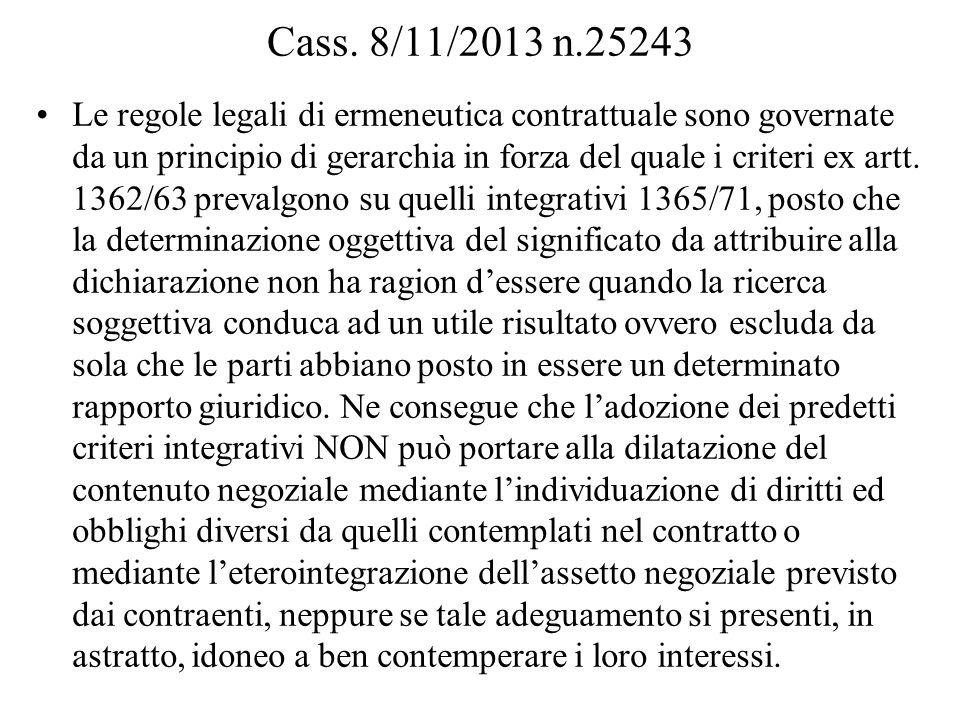 Cass. 8/11/2013 n.25243