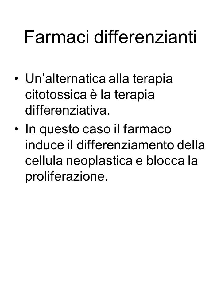 Farmaci differenzianti