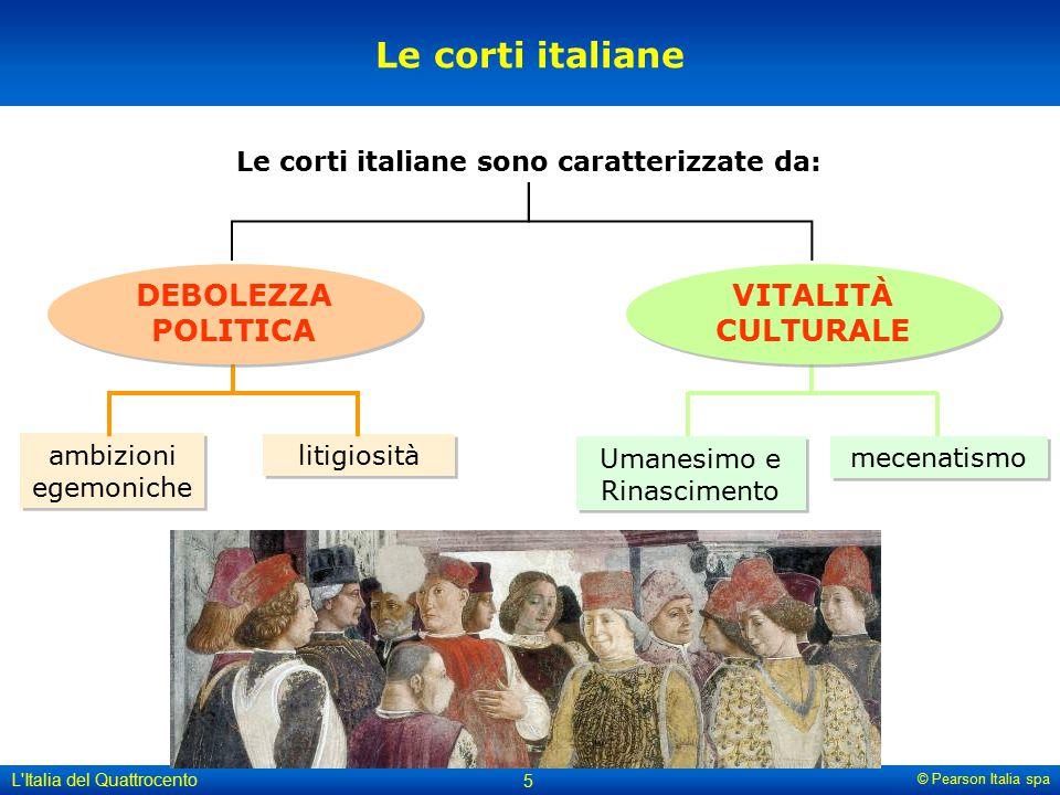 Le corti italiane sono caratterizzate da: