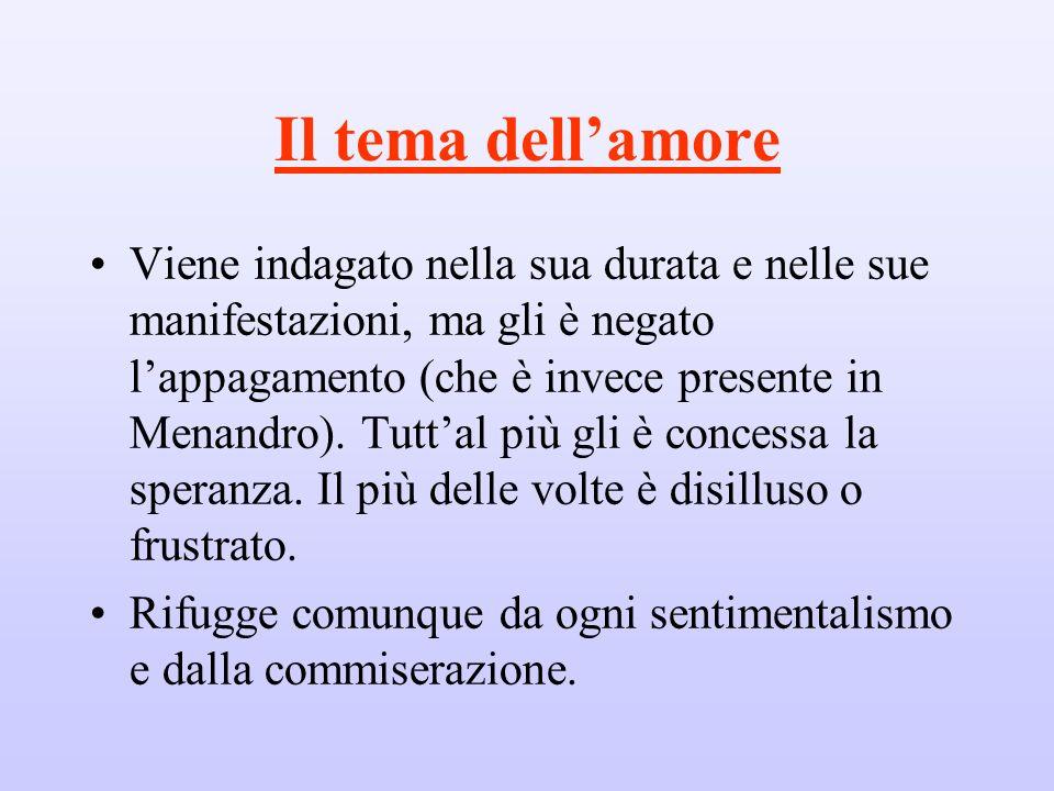 Il tema dell'amore