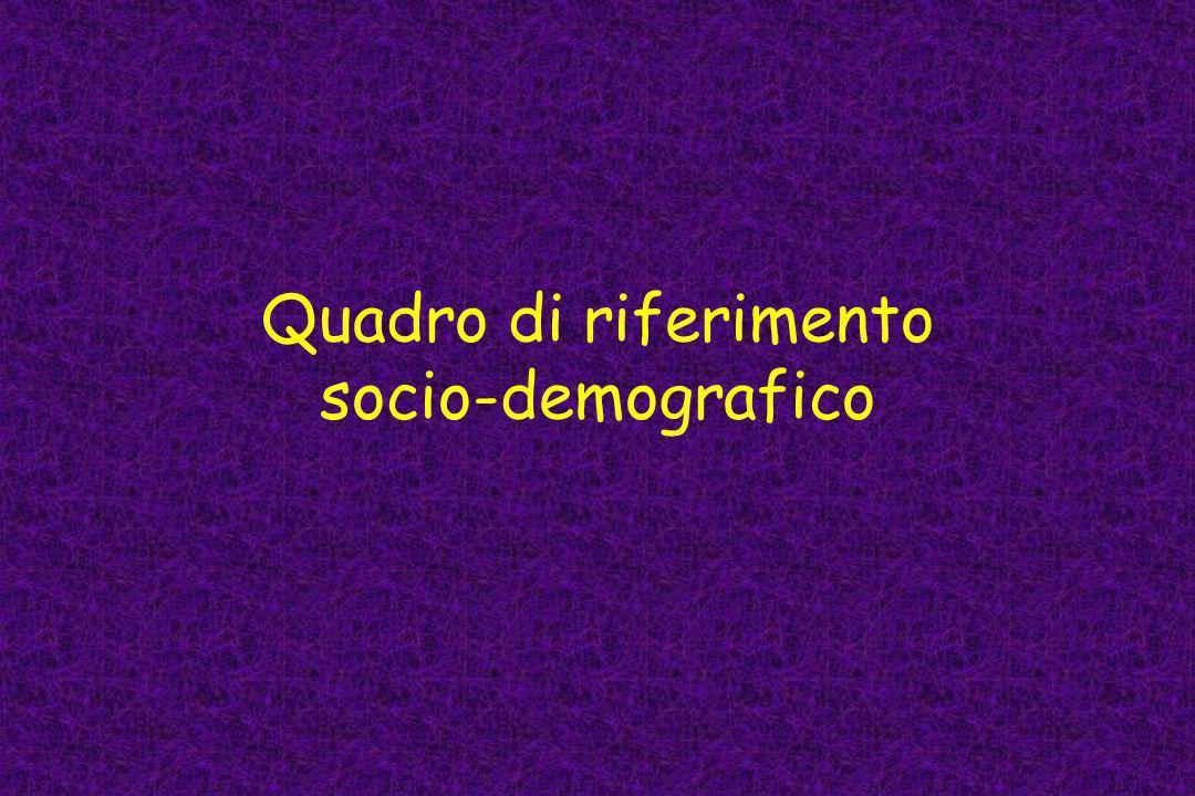Quadro di riferimento socio-demografico