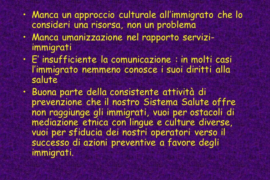 Manca un approccio culturale all'immigrato che lo consideri una risorsa, non un problema