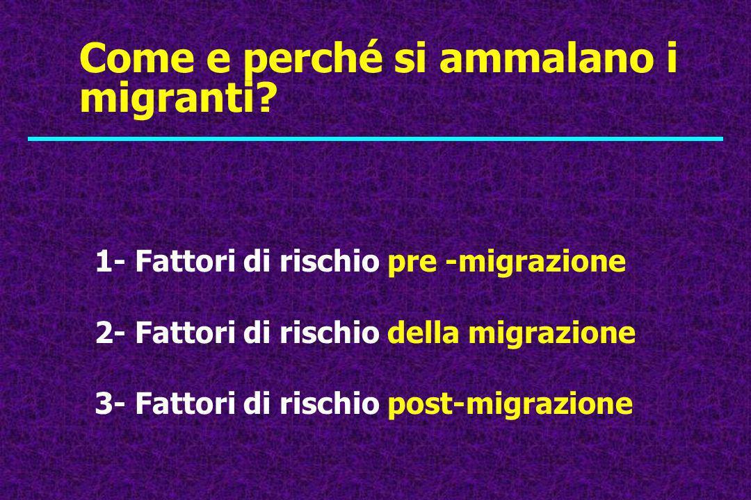 Come e perché si ammalano i migranti