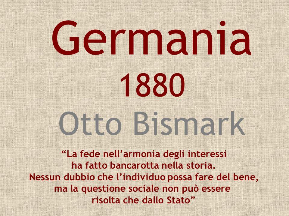 Germania 1880 Otto Bismark La fede nell'armonia degli interessi