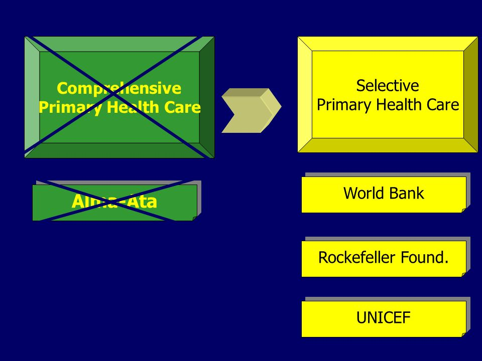 Alma-Ata Comprehensive Selective Primary Health Care