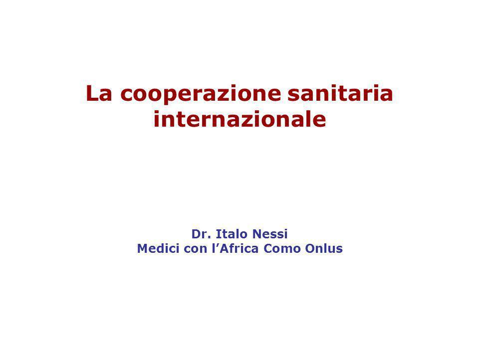 La cooperazione sanitaria internazionale Dr