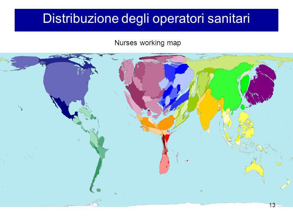 Distribuzione degli operatori sanitari