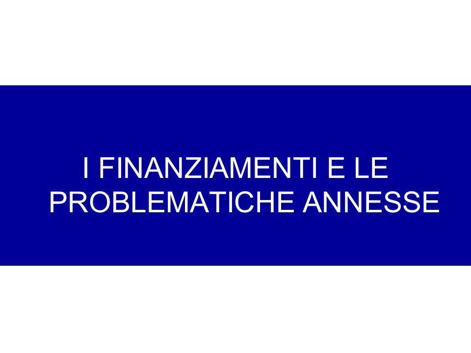 I FINANZIAMENTI E LE PROBLEMATICHE ANNESSE