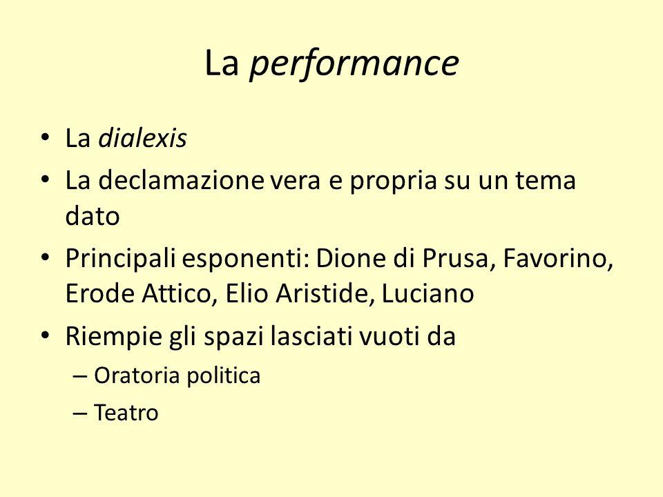La performance La dialexis