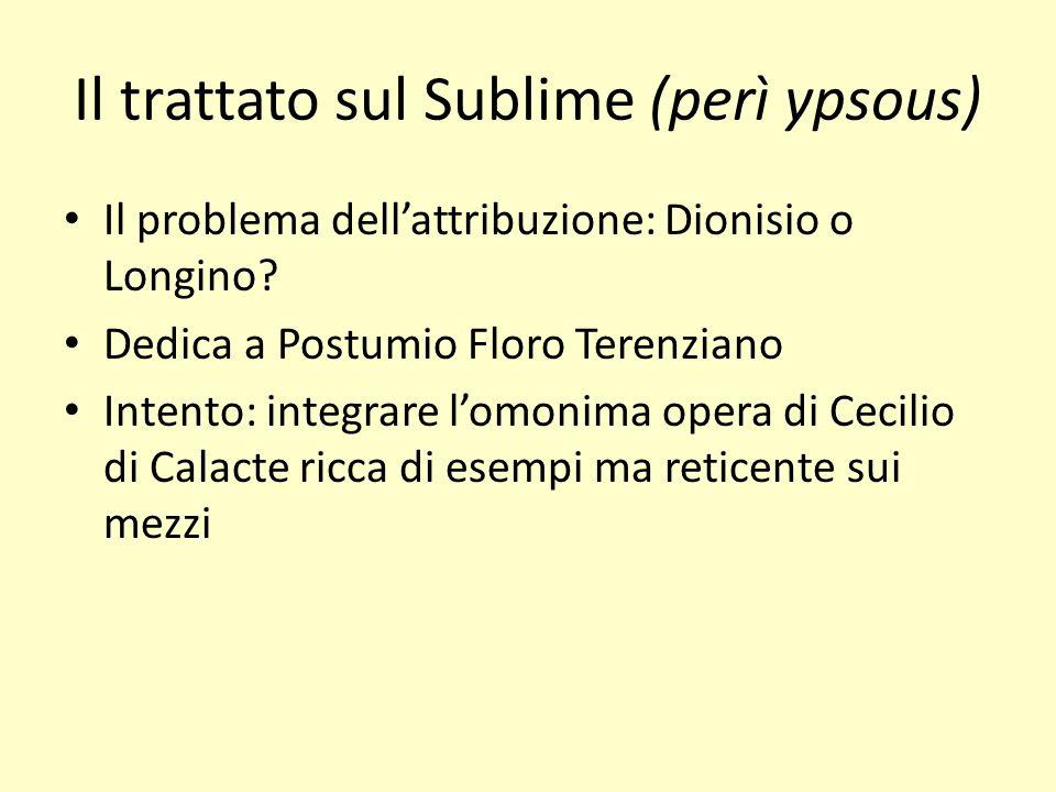 Il trattato sul Sublime (perì ypsous)