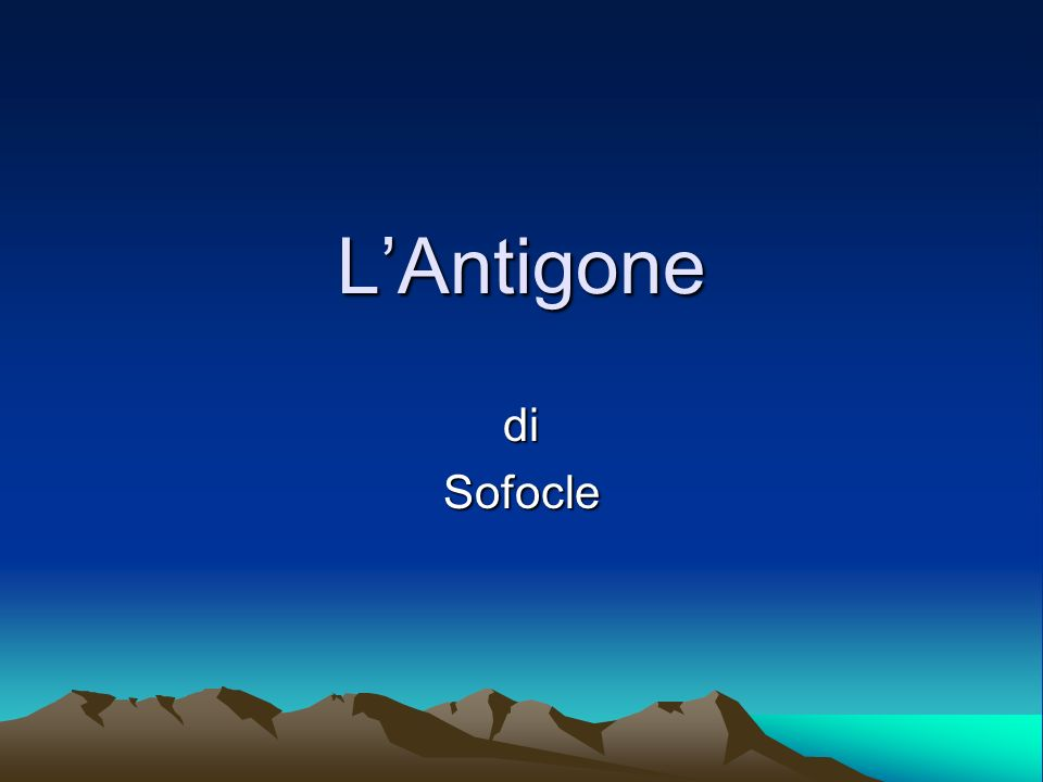 L'Antigone di Sofocle