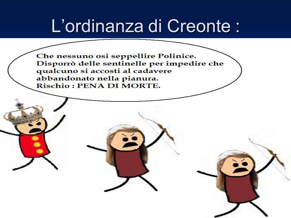 L'ordinanza di Creonte :