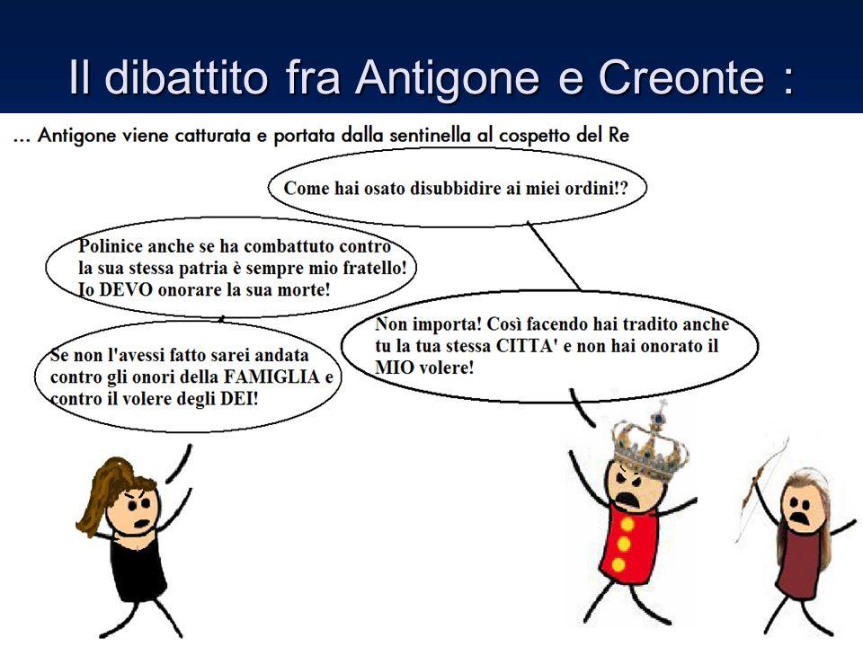 Il dibattito fra Antigone e Creonte :