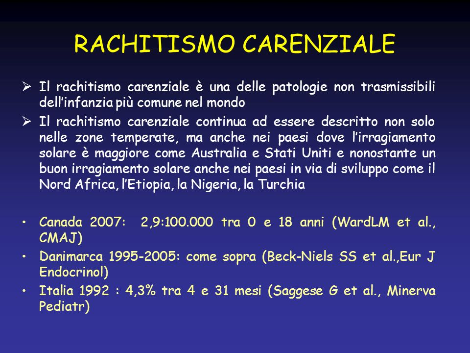 RACHITISMO CARENZIALE