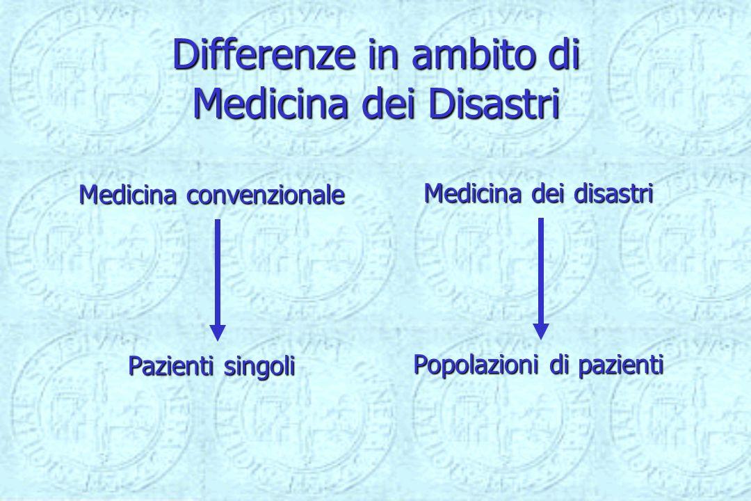 Differenze in ambito di Medicina dei Disastri