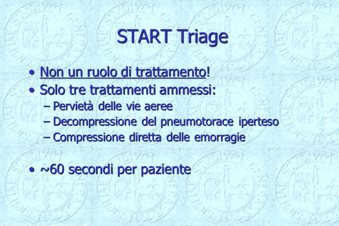 START Triage Non un ruolo di trattamento!