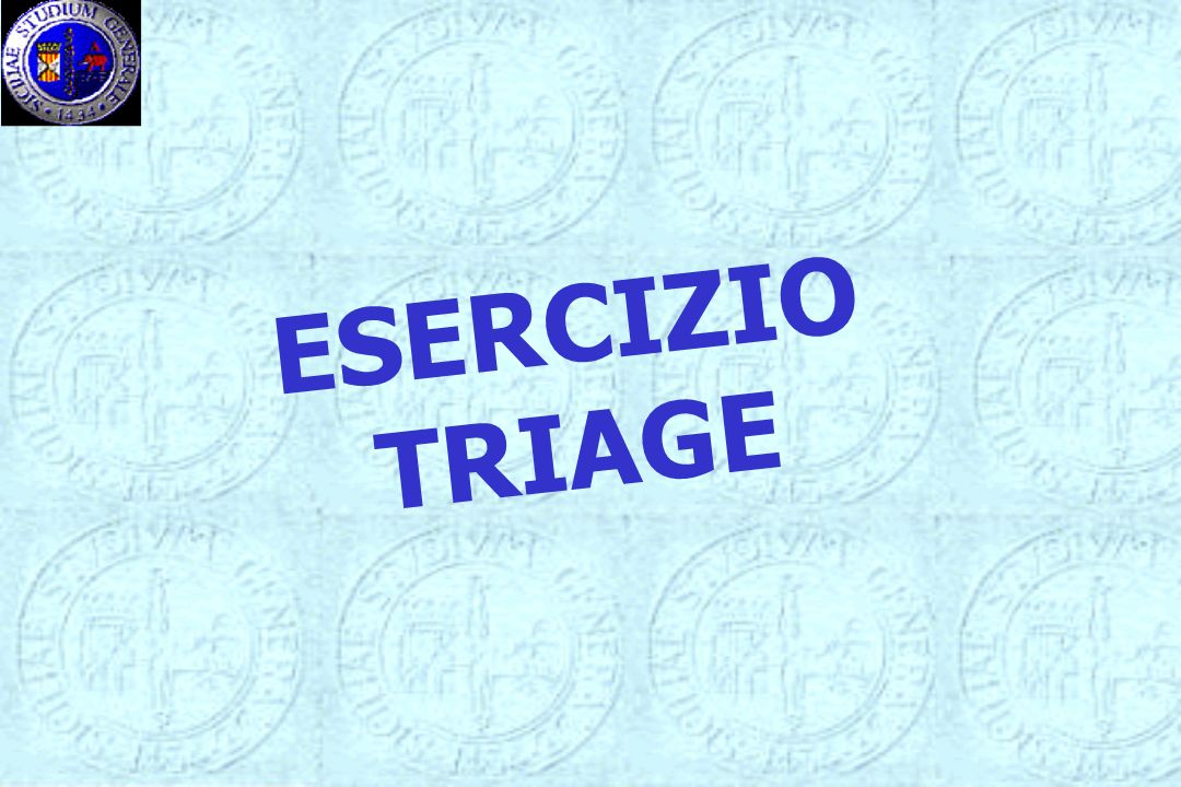 ESERCIZIO TRIAGE