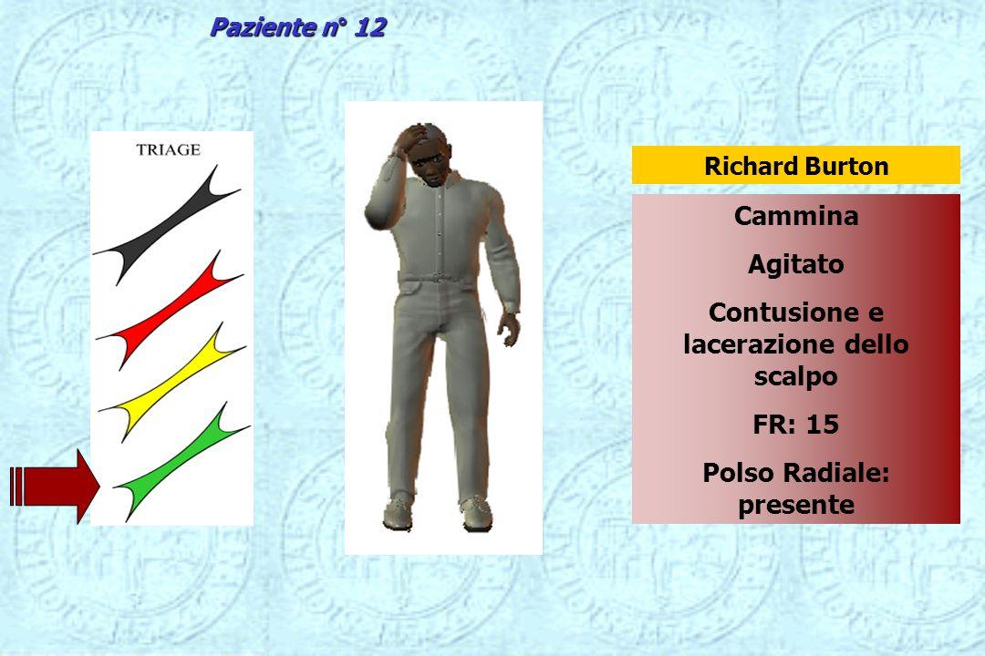 Contusione e lacerazione dello scalpo Polso Radiale: presente