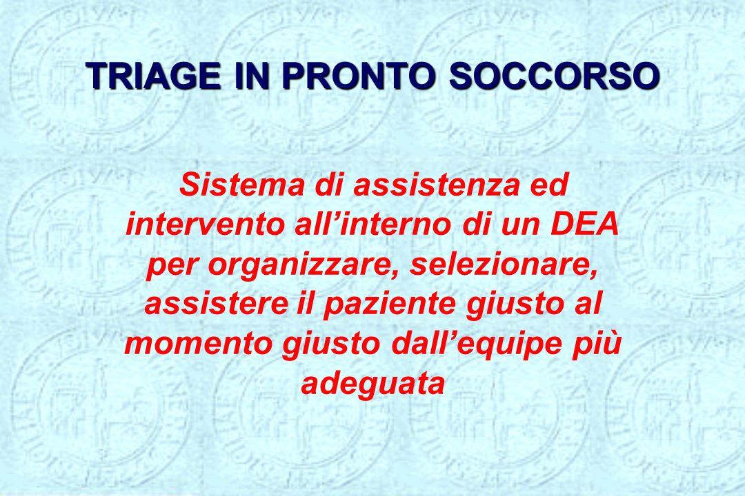 TRIAGE IN PRONTO SOCCORSO