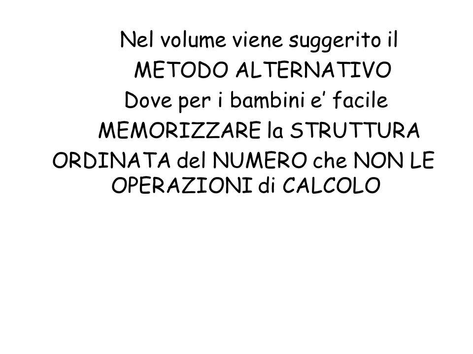 Nel volume viene suggerito il METODO ALTERNATIVO