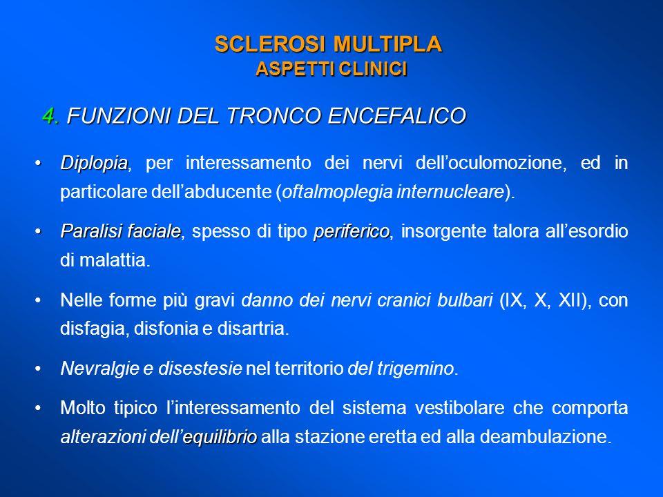 FUNZIONI DEL TRONCO ENCEFALICO