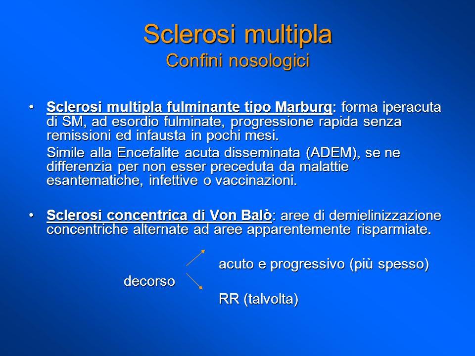 Sclerosi multipla Confini nosologici