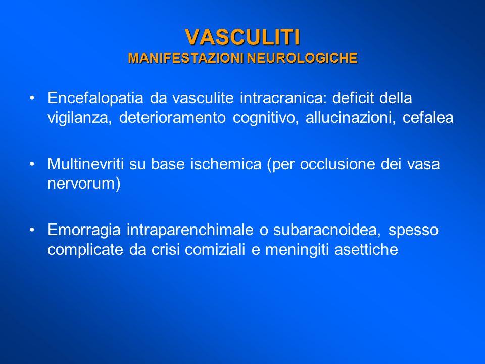 VASCULITI MANIFESTAZIONI NEUROLOGICHE