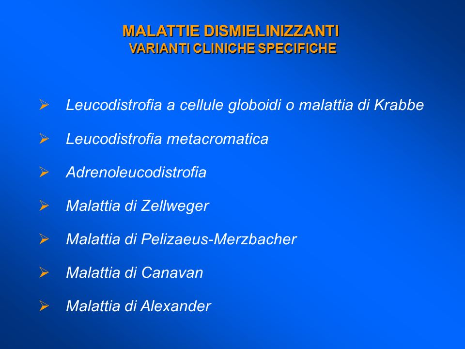 VARIANTI CLINICHE SPECIFICHE