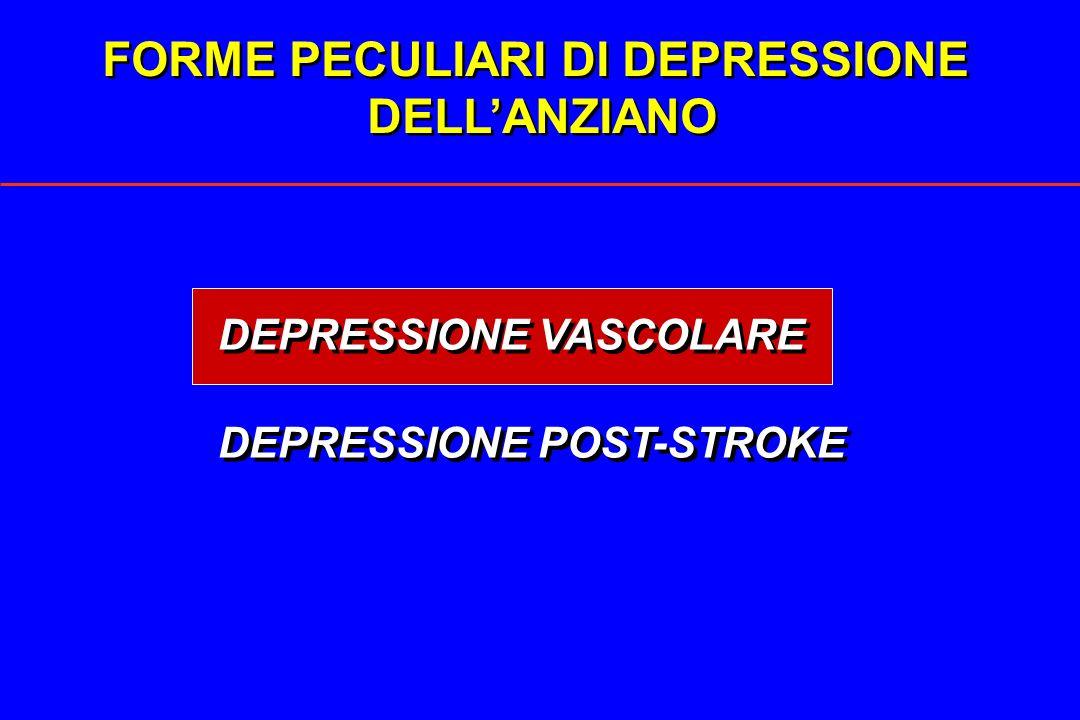FORME PECULIARI DI DEPRESSIONE