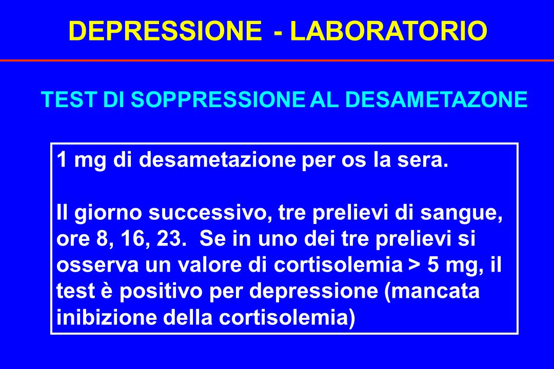 DEPRESSIONE - LABORATORIO