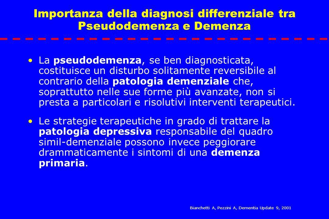 Importanza della diagnosi differenziale tra Pseudodemenza e Demenza